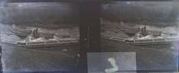 BISTRITA, Transylvania : Radeaux, Flottage Bois, Début XXe. Plaque Verre Stéréoscopique, Négatif. Transylvanie - Glass Slides