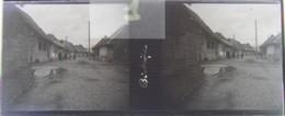 BISTRITA, Transylvania : Une Rue, Début XXe. Plaque Verre Stéréoscopique, Négatif. Transylvanie - Glasdias