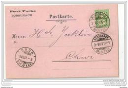 116 - 56 - Carte Suisse Avec Cachets De Rorschach Et Chur 1901 - Attention Petit Trou à Gauche - 1882-1906 Armoiries, Helvetia Debout & UPU