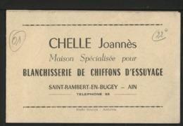 01 SAINT RAMBERT EN BUGEY - Blanchisserie De Chiffons D'Essuyage - CHELLE JOANNES - France