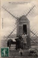 Thematiques 29 Finistère Un Moulin A Vent à L'Ile D'Ouessant Serie Des Industries Bretonnes Timbré Cachet 22 06 1909 - Ouessant