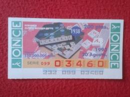 CUPÓN DE ONCE 1993 LOTTERY LOTERIE SPAIN BLIND LOTERÍA JUEGO DE MESA SCRABBLE WORD GAME 1938 ALFRED MOSHER BUTTS VER FOT - Billets De Loterie
