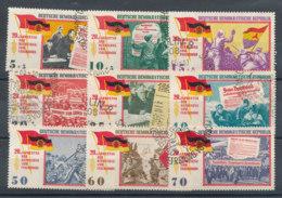 .804 à 812 (o) Mi 1102 à 1110 (o) 20è Anniversaire De La Libération Du Fascisme - Used Stamps