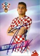 Trading Cards KK000088 - Football (Soccer / Calcio) Hrvatska Croatia 10.5cm X 13cm HANDWRITTEN SIGNED: Mateo Kovacic - Trading Cards