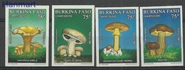 Burkina Faso 1990 Mi 1235-1238B MNH ( ZS5 BRF1235-1238B ) - Mushrooms