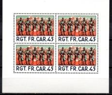 Sello En Hb  RGT.FR.Car.45 Suiza - Militares