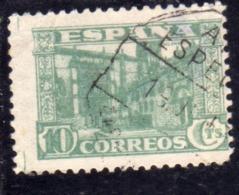 SPAIN ESPAÑA SPAGNA 1936 UNIVERSITY OF SALAMANCA CENT. 10c USED USATO OBLITERE' - 1931-Aujourd'hui: II. République - ....Juan Carlos I