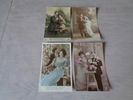 Beau Lot De 60 Cartes Postales De Fantaisie  Couples  Couple    Mooi Lot Van 60 Postkaarten Fantasie  Koppel - 60 Scans - Cartes Postales