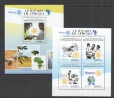 RR448 2014 GUINEE GUINEA ART ORGANIZATION ROTARY IN AFRICA KB+BL MNH - Rotary Club