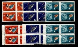 Russia 1964 Mi 2895-2897 A+B MNH ** Space - 1923-1991 USSR