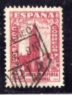 SPAIN ESPAÑA SPAGNA 1936 LA GIRALDA SEVILLE JUNTA DE DEFENSA NATIONAL CENT. 15c USED USATO OBLITERE' - 1931-50 Gebraucht