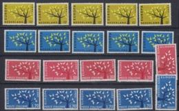 Europa Cept 1962 Netherlands & Italy 2x2v (5x) ** Mnh (44976) - 1962