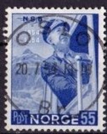 (402) 1954 Norwegen - The 100th Anniversary Of The Norwegian Railroad Used/o (A-7-2) - Norway