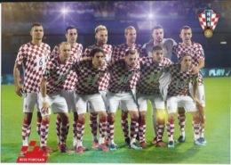 Trading Cards KK000125 - Football (Soccer Calcio) Hrvatska Croatia 10.5cm X 13cm - Trading Cards