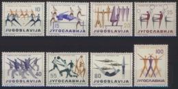 --- 1959 - Yougoslavie - 801 / 808** M 900 / 907** - Fête Fédérale De La Culture Physique - Neufs