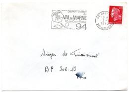 VAL De MARNE - Dépt N° 94 ORLY Ppal 1970 = FLAMME Codée = SECAP  ' N° De CODE POSTAL / PENSEZ-Y ' - Zipcode