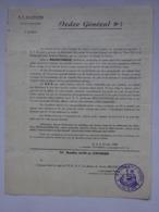 Militaria Ordre Général N°3 Briançon L'Armée Des Alpes A Cessé Le Combat 72° Bataillon Alpin De Forteresse B.A.F - Documents