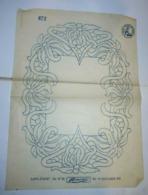 Ancien Patron FEMINA 1901 / 37.5 X 27 Cm - Stickarbeiten