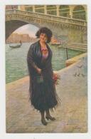 AB311 - ITALIE - VENISE - Jolie Illustration Jeune Femme - Frau - Lady - Ragazza - Signée UMBERTO ZINI - Autres Illustrateurs