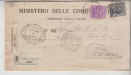 Storia Postale Ferrovie Dello Stato 1928 Napoli Rione Vasto - Storia Postale