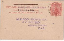 ZULULAND 1894   ENTIER POSTAL/GANZSACHE/POSTAL STATIONERY CARTE DE ESCHOWE - Zululand (1888-1902)