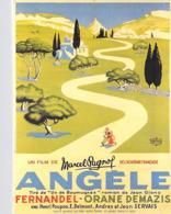 Spectacle Affiche De Film  ANGELE  D'après Affiche D'Albert DUBOUT Film De Marcel Pagnol Avec Fernandel  *PRIX FIXE - Affiches Sur Carte