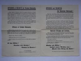 Militaria Tract Envoyé Aux Allemands Tenant La Pointe De Lervilly Près D'Audierne Cessez La Guerre Commandement F.F.I. - Documents
