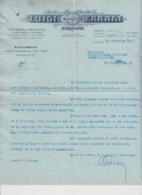 Bologna L. Errani Con Busta 1928 Storia Postale - Documents Historiques