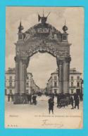 CPA MALINES / MECHELEN Arc De Bienvenu Au Boulevard Des Arbalétriers - Circulée En 1905 - H.N. à A. - 2 Scans - Machelen