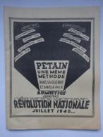 Militaria Magazine De Propagande Pour Le Maréchal Pétain Armistice Juin 1940 Révolution Nationale - Documents