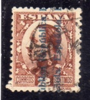 SPAIN ESPAÑA SPAGNA 1931 KING ALFONSO XIII (1930) REPUBLICA ESPANOLA OVERPRINTED CENT. 2c USED USATO OBLITERE' - 1931-Aujourd'hui: II. République - ....Juan Carlos I