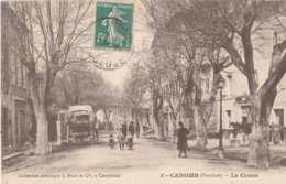 CPA 84 CAROMB LE  COURS ANIME  DILIGENCE - Francia