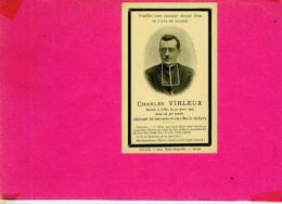 AVIS  DE  DECES.  CHARLES  VIRLEUX. DECEDE A LILLE  LE  30  MARS  1904  DANS  SA  30 E ANNEE - Avvisi Di Necrologio