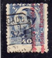 SPAIN ESPAÑA SPAGNA 1931 KING ALFONSO XIII (1930) REPUBLICA ESPANOLA OVERPRINTED CENT. 40c USED USATO OBLITERE' - 1931-Aujourd'hui: II. République - ....Juan Carlos I