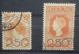 NEDERLAND   1920     Nr. 104 - 105   Gestempeld    CW  225,00 - Period 1891-1948 (Wilhelmina)