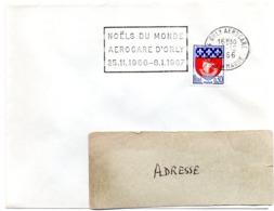 VAL De MARNE - Dépt N° 94 ORLY AEROGARE 1966 = FLAMME SECAP 'Noëls Du Monde 1967' - Oblitérations Mécaniques (flammes)