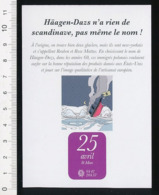 Humour Ice Cream / Origine Du Nom De La Glace Haagen-Dazs Métier Glacier Iceberg Naufrage Paquebot BIM 1/B1-5 - Vieux Papiers