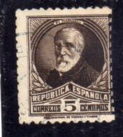 SPAIN ESPAÑA SPAGNA 1931 1932 FRANCISCO PI Y MARGALL CENT. 5c USED USATO OBLITERE' - 1931-Aujourd'hui: II. République - ....Juan Carlos I