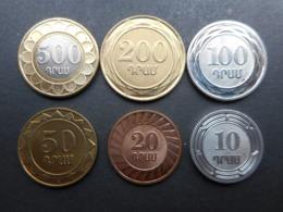 Armenia 10,20,50,100,200,500 Dram 2003-2004 (Lot Of 6 Coins) - Armenië