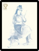 Riproduzione Di Un Acquerello Filatura Reproduction D'aquarelle Femme Filant Aquarell Woman Spinning - Aquarel