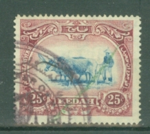 Malaya - Kedah: 1919-21   Malay Ploughing     SG23    25c      Used Fiscal - Kedah