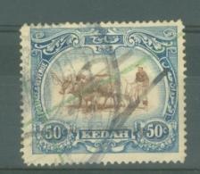 Malaya - Kedah: 1921-32   Malay Ploughing     SG36bw    50c  [Wmk Crown To Left Of CA]    Used Fiscal - Kedah