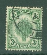 Malaya - Kedah: 1922-40   Sheaf Of Rice     SG53    3c      Used - Kedah