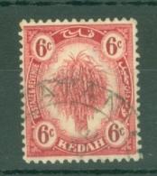 Malaya - Kedah: 1922-40   Sheaf Of Rice     SG56    6c   Carmine    Used - Kedah