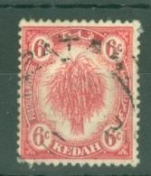 Malaya - Kedah: 1922-40   Sheaf Of Rice     SG56a    6c   Carmine-red    Used - Kedah