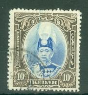 Malaya - Kedah: 1937   Sultan Abdul Hamid Halimshah     SG60    10c      Used - Kedah