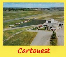 CPSM  BERGERAC 24 ⭐ Vue Aérienne ♥♥♣♣☺♣♣ Aérodrome - Restaurant - Aéro-Club - Avions ֎ - Aérodromes
