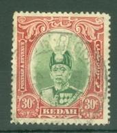 Malaya - Kedah: 1937   Sultan Abdul Hamid Halimshah     SG63    30c      Used - Kedah