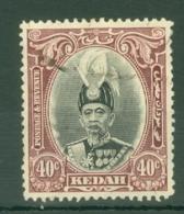 Malaya - Kedah: 1937   Sultan Abdul Hamid Halimshah     SG64    40c      Used - Kedah