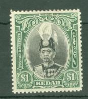 Malaya - Kedah: 1937   Sultan Abdul Hamid Halimshah     SG66    $1      MH - Kedah